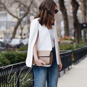 Blazer cape jacket white coat